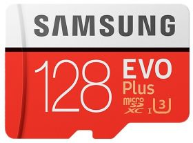 Карта памяти Samsung Evo Plus MicroSD 128Gb + Adapter SD |MB-MC128GA|