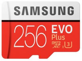 Карта памяти Samsung Evo Plus MicroSD 256Gb + Adapter SD |MB-MC256GA|