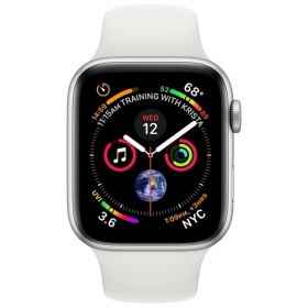 Часы Apple Watch Series 4, 44mm GPS Silver Aluminum Case with White Sport Band |MU6A2|
